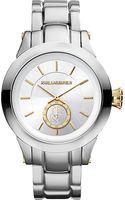 Karl Lagerfeld Watches Round Stainless Steel Watch - Lyst