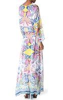 Roberto Cavalli Printed Silk Kaftan Maxi Dress - Lyst