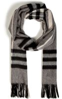 Burberry Cashmere Giant Check Scarf in Charcoal - Lyst