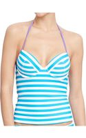 Old Navy Striped Underwire Tankini Tops - Lyst
