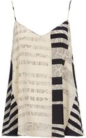 Topshop Silk Stripe Cami By Boutique - Lyst