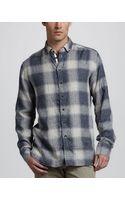 Rag & Bone Ombre Plaid Shirt - Lyst