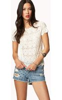 Forever 21 Orante Lace Top - Lyst