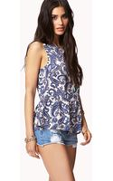 Forever 21 Paisley Peplum Top - Lyst