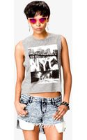 Forever 21 Nyc Muscle Tee - Lyst
