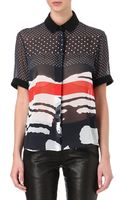 Preen By Thorton Bregazzi Piper Printed Shirt - Lyst