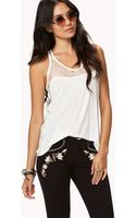 Forever 21 Y-Back Lace Tank - Lyst