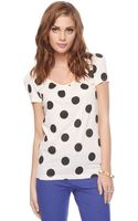 Forever 21 Dotted Bow Back Tee - Lyst