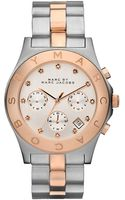 Marc By Marc Jacobs Ladies Rose Gold and Silver Chronograph Watch - Lyst