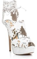 Charlotte Olympia Belinda Suede Cut Out Shoes - Lyst