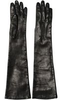 Dolce & Gabbana Nappa Leather Long Gloves - Lyst