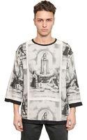Dolce & Gabbana Patchwork Fatima Printed T-shirt - Lyst