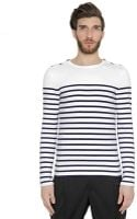 Jean Paul Gaultier Striped Stretch Cotton Jersey Shirt - Lyst