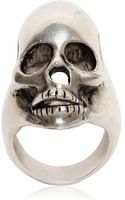 Saint Laurent Skull Ring - Lyst