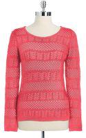 Calvin Klein Open Stitch Sweater - Lyst