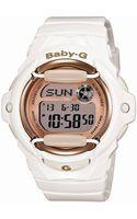 G-shock Baby G Ladies White Pink Champagne Babyg Watch - Lyst