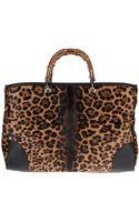 Gucci Leopard Print Tote - Lyst