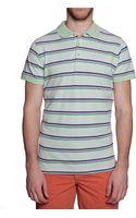 Ben Sherman Twotone Stripe Pique Knit Polo Shirt - Lyst
