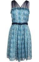 Rodarte Printed Silk and Tulle Dress - Lyst