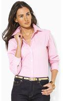 Lauren by Ralph Lauren Aaron Classic Long Sleeve Noniron Shirt - Lyst