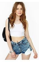 Nasty Gal Acid Damage Cutoff Shorts - Lyst