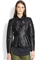 3.1 Phillip Lim Leather Peplum Motorcycle Jacket - Lyst