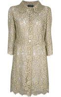 Dolce & Gabbana Lace Coat - Lyst