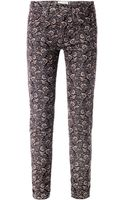 Etoile Isabel Marant Iceo Floral Midrise Skinny Corduroy Jeans - Lyst
