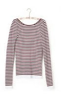 Free People Striped Low Back Top - Lyst