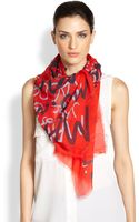 Marc By Marc Jacobs Logoprint Scarf - Lyst