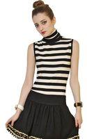 Moschino Striped Wool Merino Knit Sweater - Lyst