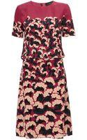 Thakoon Dusty Rose Silk Pintuck Dress - Lyst