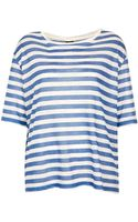 Topshop Stripe Linen Tee By Boutique - Lyst