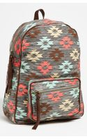 Lulu Print Canvas Backpack - Lyst