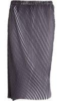 Issey Miyake Asymmetrical Skirt - Lyst