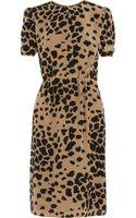 Burberry Animal print Silk Dress - Lyst