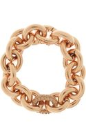 Eddie Borgo Rose Gold-plated Crystal Chain Bracelet - Lyst