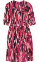 Jonathan Saunders Mila Printed Slub Cottonblend Dress - Lyst