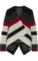 Thakoon Striped Brushed Wool blend Jacket - Lyst