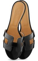 Hermes Oasis Leather Sandals - Lyst