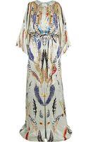 Temperley London Feather Print Maxi Dress - Lyst