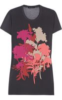 Jonathan Saunders Floral Print Stretch Jersey T Shirt - Lyst