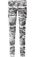 Etoile Isabel Marant Tiger Print Midrise Skinny Corduroy Jeans - Lyst