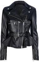 McQ by Alexander McQueen Peplum Leather Jacket - Lyst