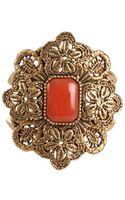 Oscar de la Renta Large Medallion Stone Bracelet - Lyst