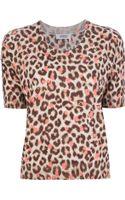 Sonia By Sonia Rykiel Leopard Print Sweater Top - Lyst