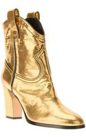 Casadei Metallic Ankle Boot - Lyst