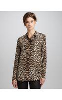Equipment Signature Leopardprint Slim Blouse - Lyst