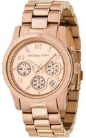 Michael Kors Rose Goldplated Chronograph Watch - Lyst