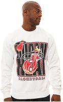 Mitchell & Ness The Miami Heat Crewneck Sweatshirt - Lyst